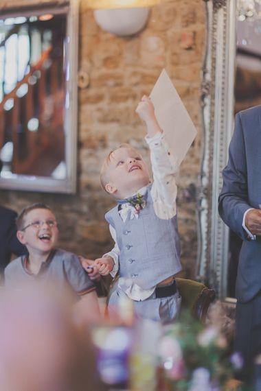 Page Boy in Pale Blue Waistcoat & Bow Tie