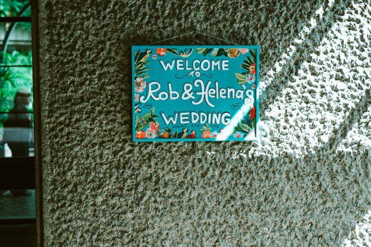 Tropical Wedding Sign