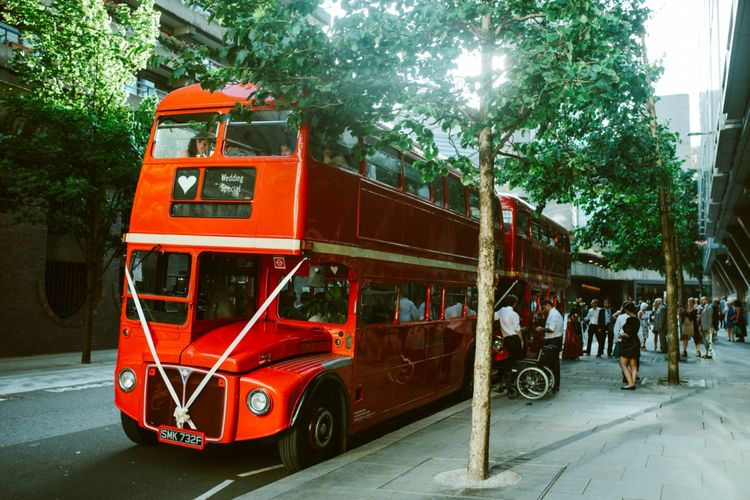 Double Decker Red London Bus Wedding Transport