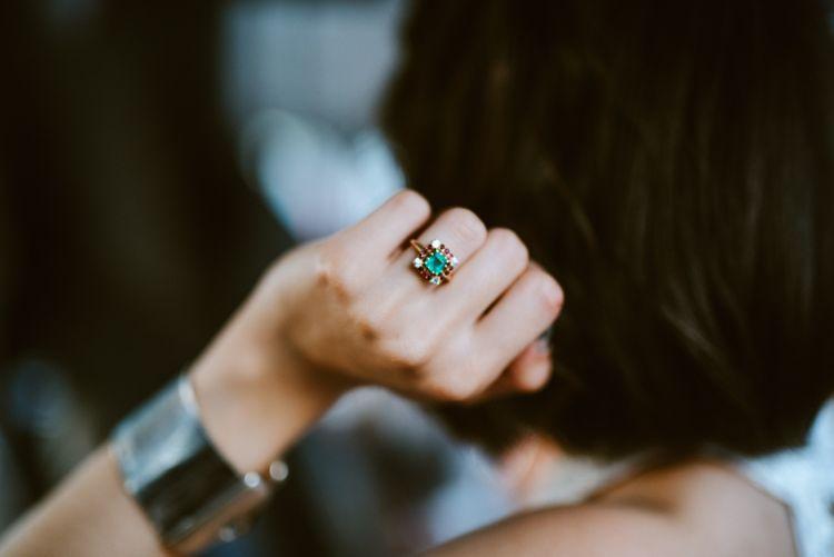 Emerald & Saphire Wedding Ring