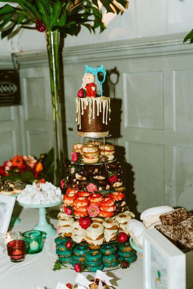 Donut Tower Wedding Cake