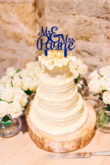 "M&S Wedding Cake | Image by <a href=""https://sarahjaneethan.co.uk/portfolio/"" target=""_blank"">Sarah Jane Ethan</a>"