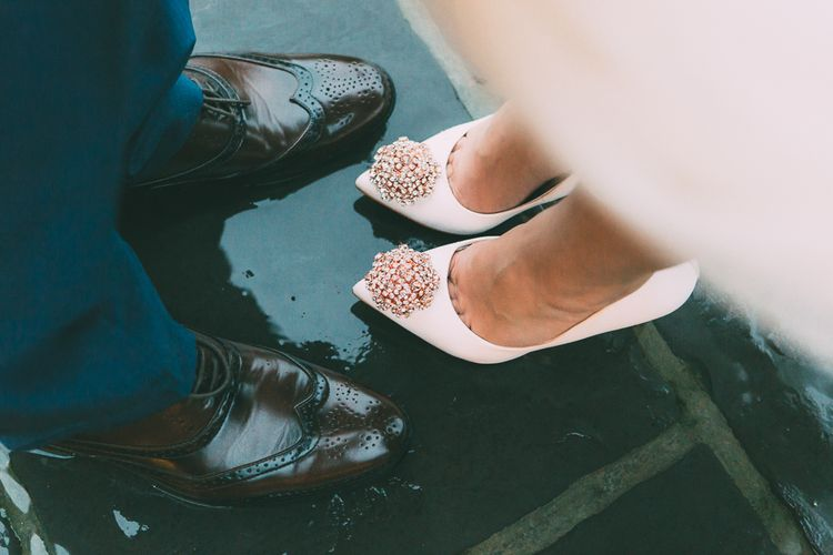 "High Street Wedding Shoes | Image by <a href=""https://www.rsbrownphotography.com/"" target=""_blank"">RS Brown Photography</a>"