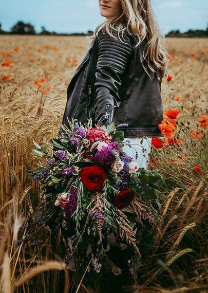 Bride In Poppy Field