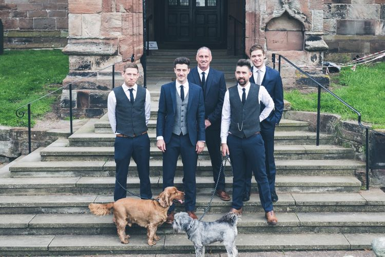 Groomsmen in Limehaus Suit | Classic Wedding at The Mytton & Mermaid, Atcham | Willo Photography