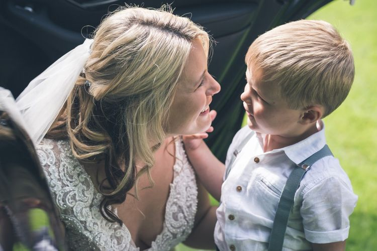 Mother and Son | Bride & Page Boy | Classic Wedding at The Mytton & Mermaid, Atcham | Willo Photography