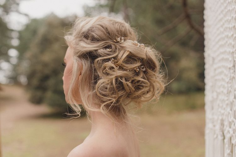 Messy Updo For Brides