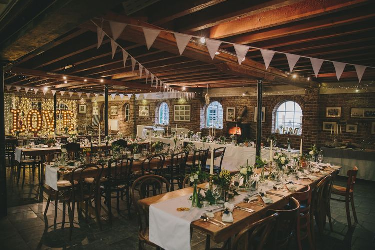 Rustic Wedding Styling With Bunting & Fairy Lights
