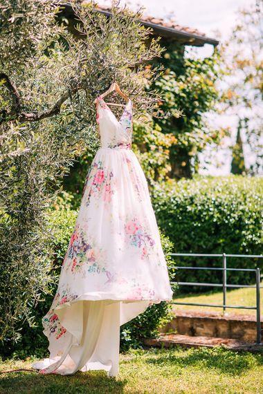 Charlotte Balbier Untamed Love Floral Wedding Dress | Destination Wedding at Casa Cornacchi in Italy | Albert Palmer Photography