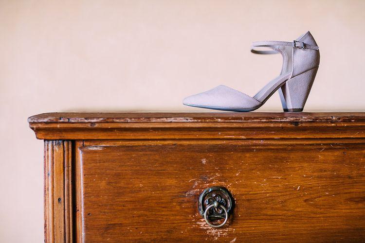 ASOS Blue Suede Bridal Shoes | Destination Wedding at Casa Cornacchi in Italy | Albert Palmer Photography