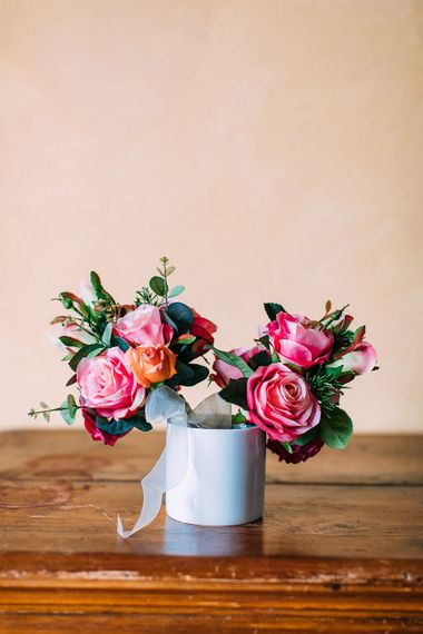 Pink Rose Bouquets | Destination Wedding at Casa Cornacchi in Italy | Albert Palmer Photography