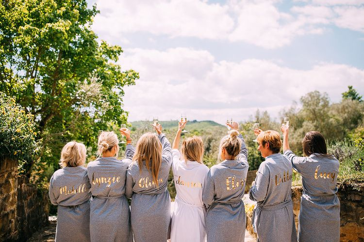 Rock On Ruby Personalised Bridal Party Dressing Gowns | Destination Wedding at Casa Cornacchi in Italy | Albert Palmer Photography