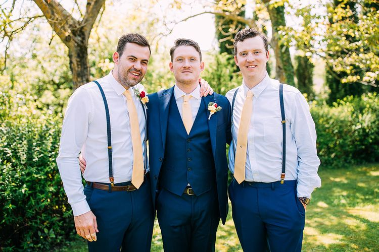 Groomsmen in Navy Ted Baker Suits | Destination Wedding at Casa Cornacchi in Italy | Albert Palmer Photography
