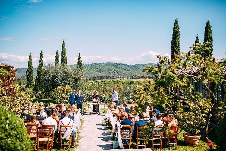 Outdoor Wedding Ceremony | Destination Wedding at Casa Cornacchi in Italy | Albert Palmer Photography