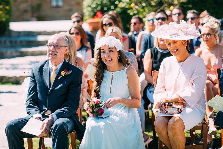 Bridesmaid in Ted Baker Dress | Destination Wedding at Casa Cornacchi in Italy | Albert Palmer Photography