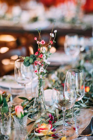 Floral Centrepiece | Destination Wedding at Casa Cornacchi in Italy | Albert Palmer Photography