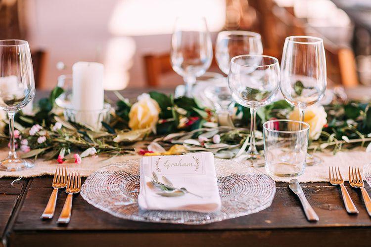 Place Setting | Destination Wedding at Casa Cornacchi in Italy | Albert Palmer Photography