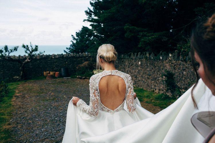 Backless Emma Beaumont Wedding Dress