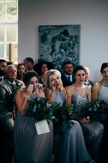 Emotional Bridesmaids | Wedding Ceremony
