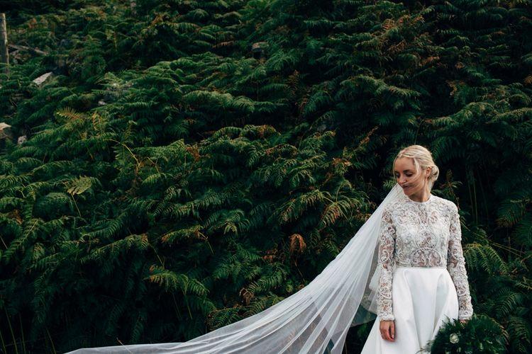 Bride in Emma Beaumont Wedding Dress