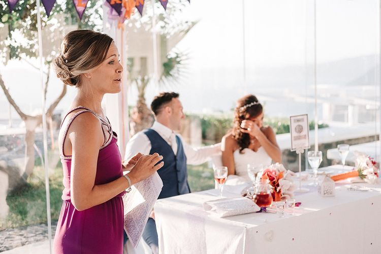 Purple Coast Bridesmaids Dress