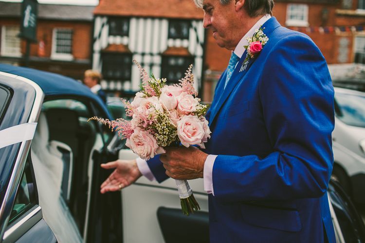 Groom in Laurence Menswear Suit | Groomsmen in Marks and Spencer Chinos and Blazer | Nautical At Home Marquee Wedding by 81 Events | RS Brown Photography