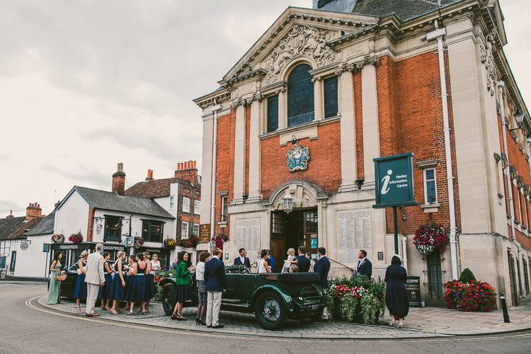 Wedding Ceremony at Henley Town Hall | Nautical At Home Marquee Wedding by 81 Events | RS Brown Photography