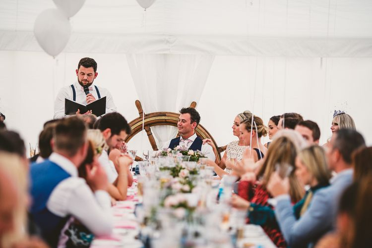 Nautical At Home Marquee Wedding by 81 Events | RS Brown Photography