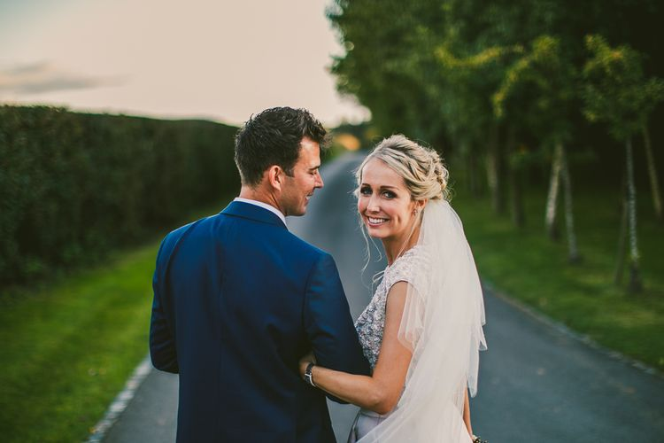 Bride in Separates by Suzannah | Groom in Navy Laurence Menswear Suit | Nautical At Home Marquee Wedding by 81 Events | RS Brown Photography
