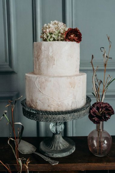 Wedding Cake | Industrial Luxe Inspiration | Clare Kinchin Photography