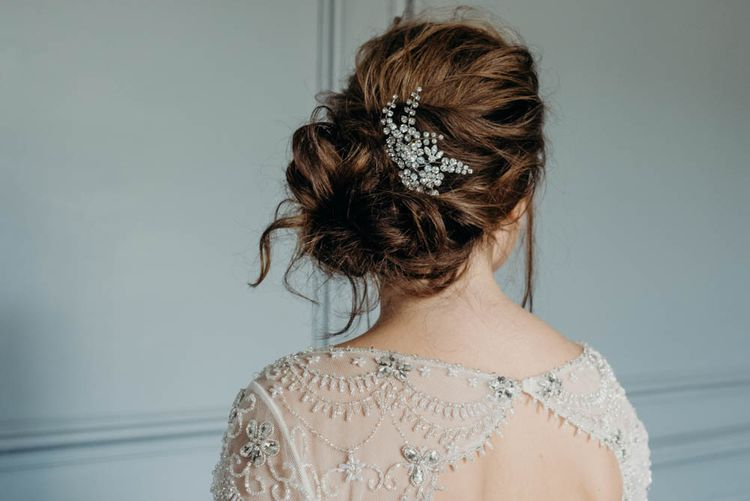 Bridal Up Do | Industrial Luxe Inspiration | Clare Kinchin Photography