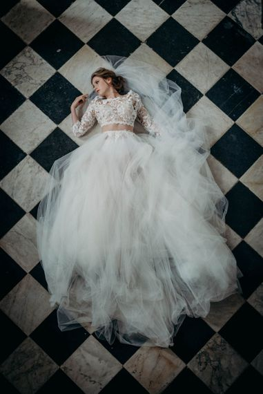 Bride in Gown from Te Amo Brides | Industrial Luxe Inspiration | Clare Kinchin Photography