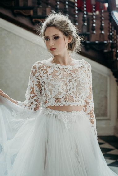 Bride in Separates from Te Amo Brides | Industrial Luxe Inspiration | Clare Kinchin Photography