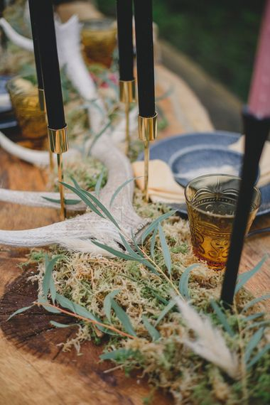 Natural Wedding Decor | Woodland Inspiration at Upthorpe Wood in Suffolk | Hippie Festival Vibes | Boho Bride in Lace Gown | Autumnal Flowers & Pampas Grass | Georgia Rachael Photography