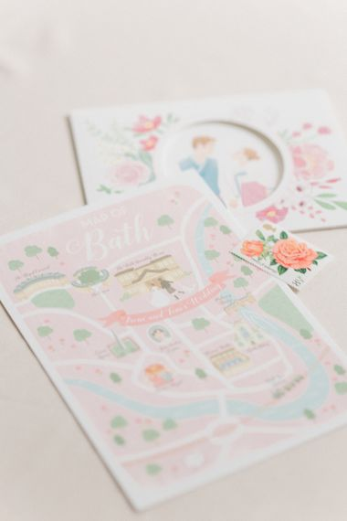 Pastel Wedding Stationery by Irene Suh Art | M and J Photography