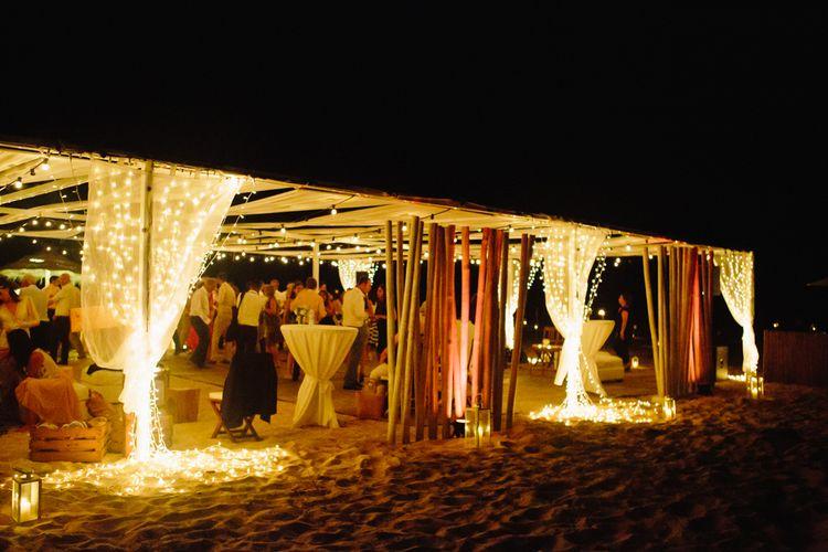 Fairy Light Beach Bar | Jade Osborne Photography | The Amazing Rabbit Films
