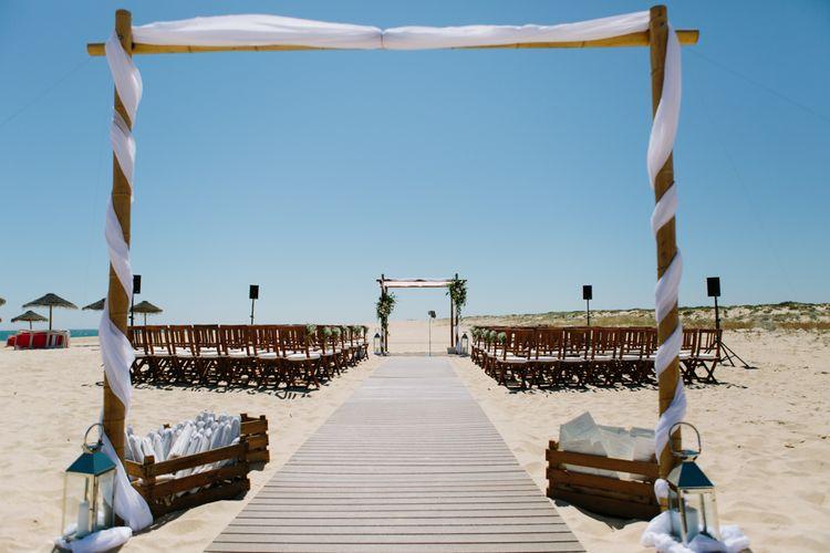 Beach Wedding Ceremony | Jade Osborne Photography | The Amazing Rabbit Films