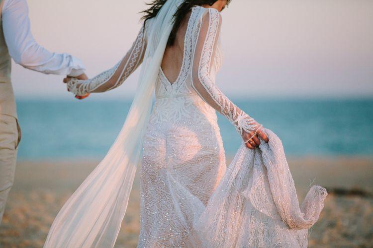 Bride in Inbal Dror Wedding Dress | Jade Osborne Photography | The Amazing Rabbit Films
