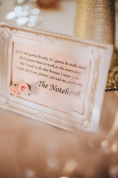 Note To The Bride & Groom