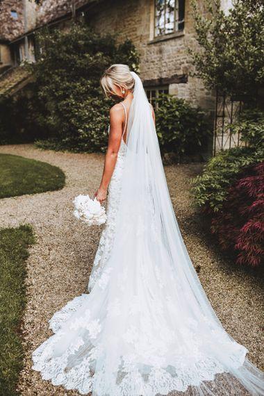 Bride in Kenneth Winston Wedding Dress