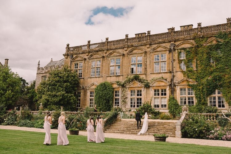 Outdoor Wedding Ceremony // Elegant Wedding Brympton House Somerset With Bride Wearing Inbal Dror And Groom In Black Tux By Alexander McQueen With Images From Modern Vintage Weddings