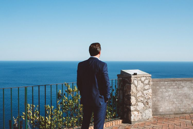 Groom in Hugo Boss Suit | Augustus Gardens, Capri Italy Destination Wedding | Paolo Ceritano Photography
