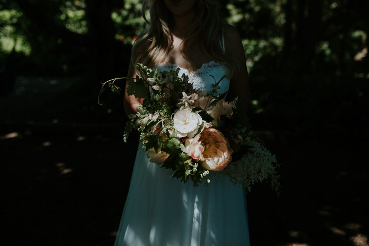 Wedding Party With Peony Bouquets