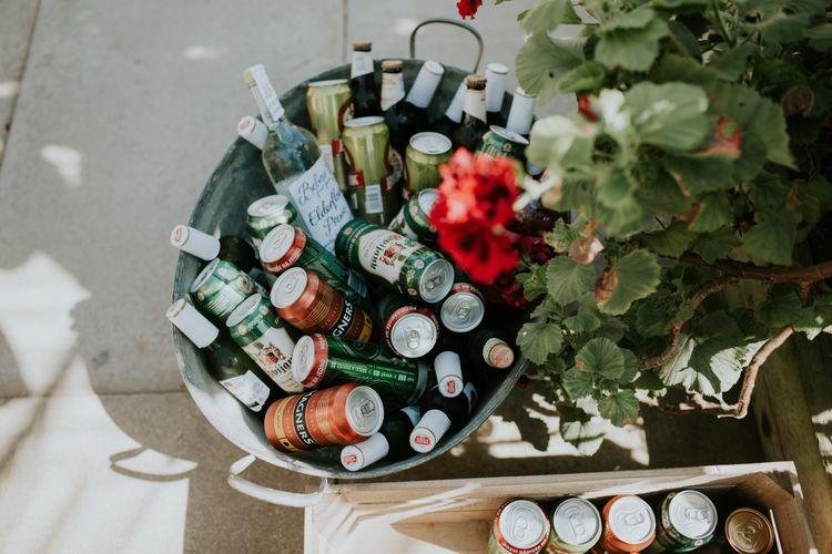 Crate Of Beer Wedding Decor