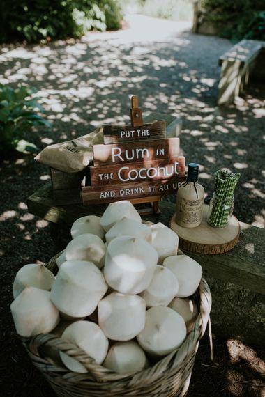 Woodland Themed Wedding Rum Cocktails