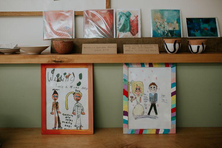 Children's Portraits Of The Bride & Groom