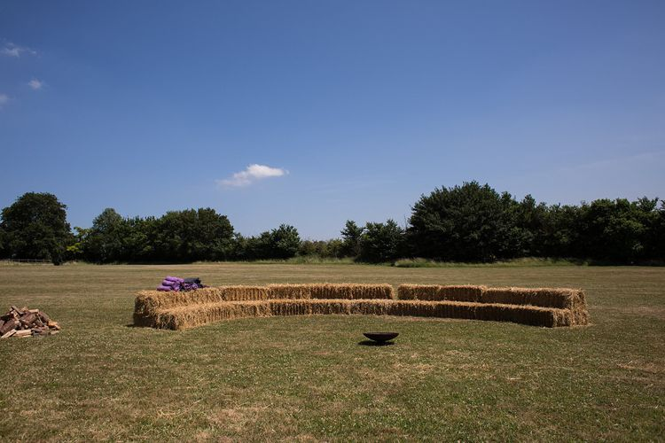 Hay Bale Seating Area
