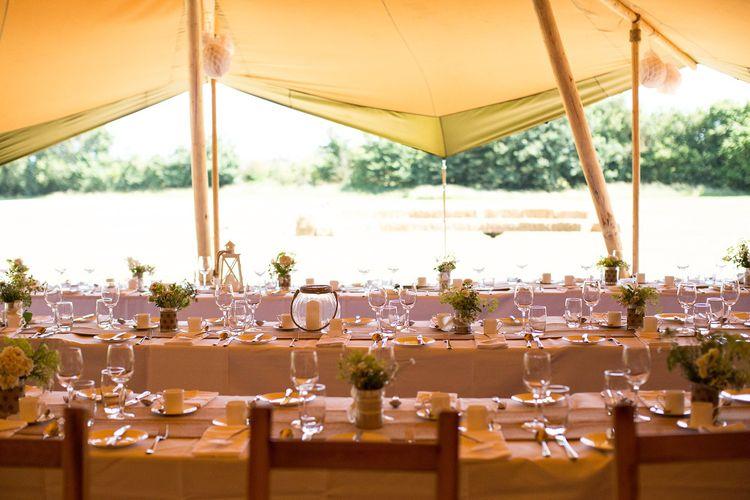 Rustic Table Centrepieces Wedding Decor