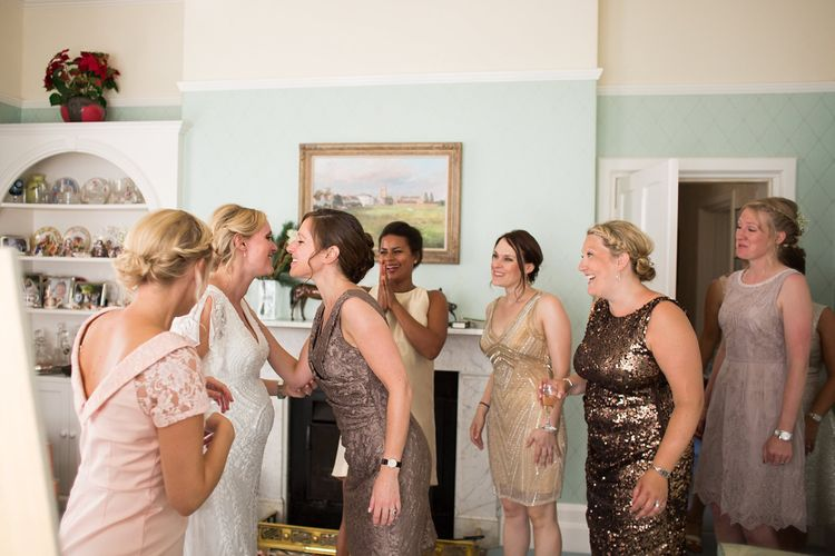 Bridesmaids in Different High Street Dresses