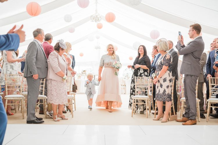 Wedding Ceremony Aisle with Hanging Paper Lanterns